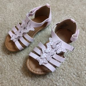 H&M leather sandals for baby girls